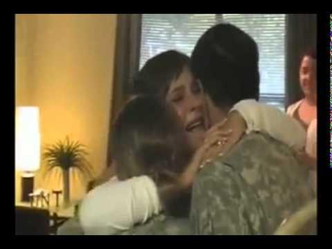 Retour de soldats Américain d'Irak   American return of soldiers in Iraq.flv