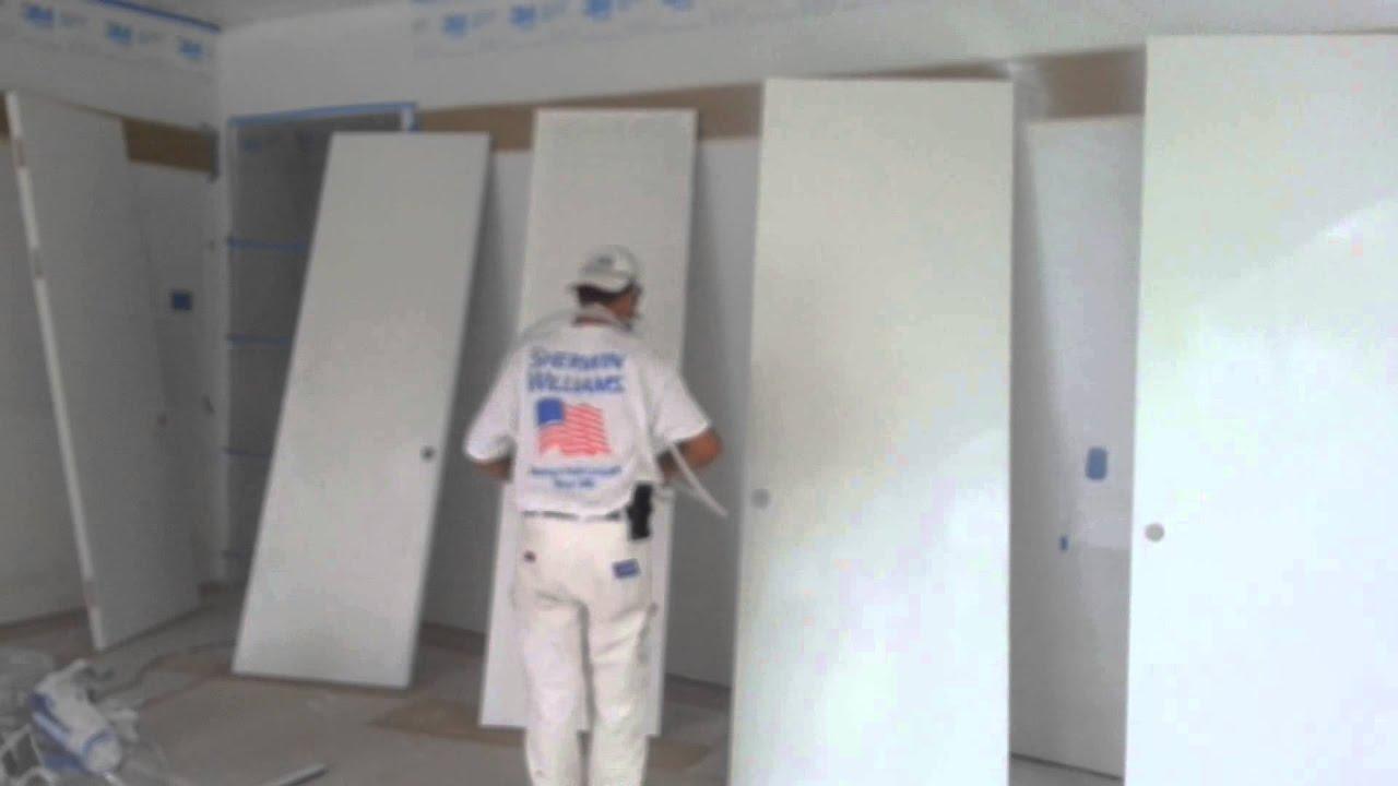 preparacion y pintado de puertas HD por sadycz - YouTube