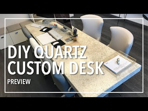 DIY Custom Built Quartz Desktop With Epoxy/Preview
