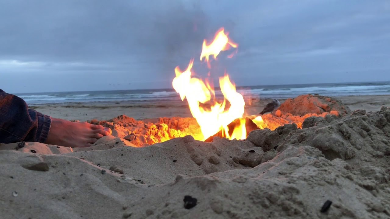 Bonfire At Pismo Beach
