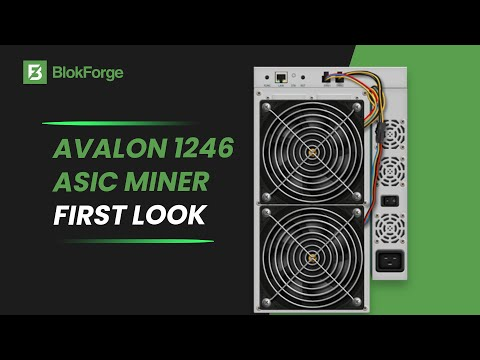 First Look At The Canaan Avalon 1246 90TH/s Bitcoin Miner!