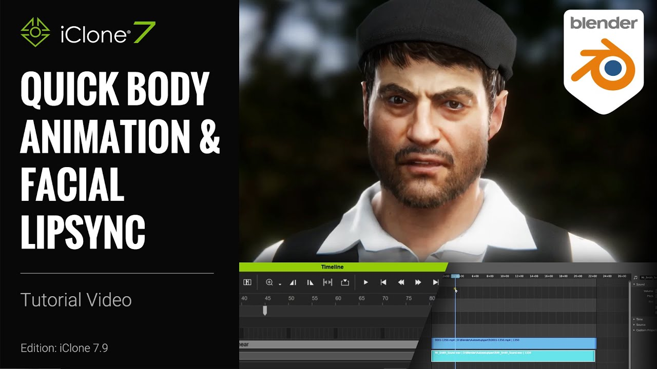 blender animation - quick body animation and facial lipsync