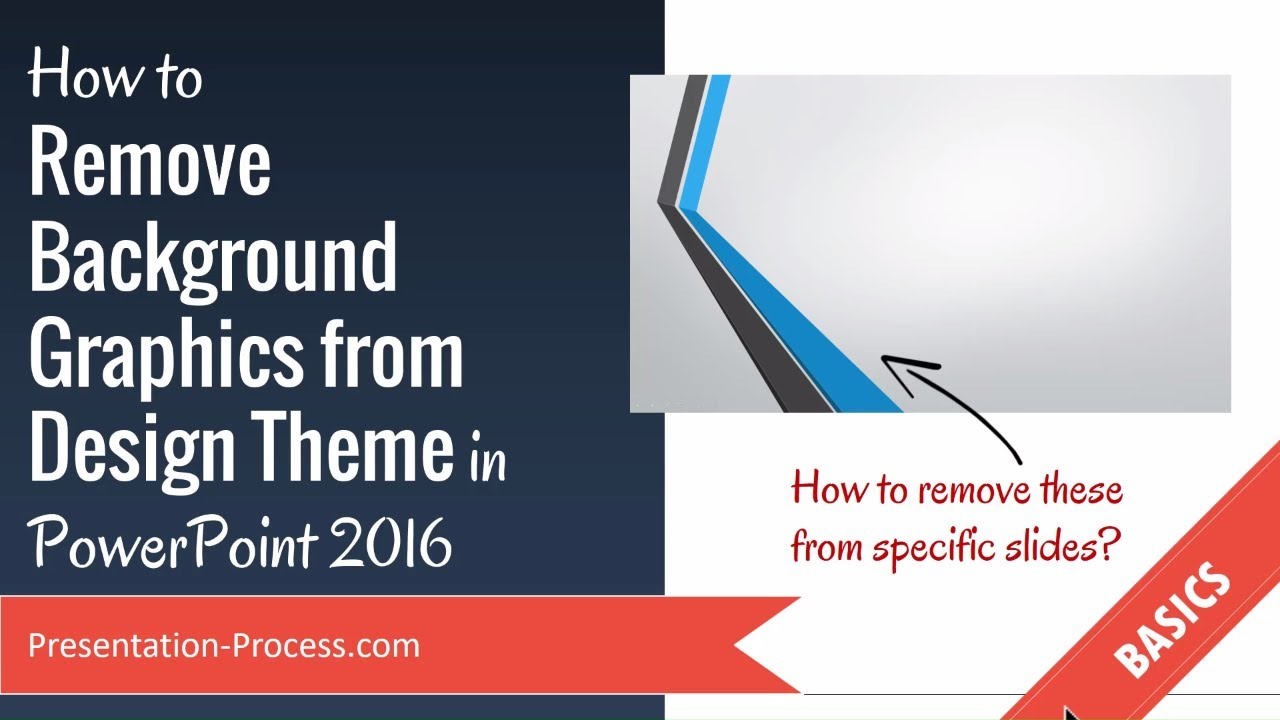 How to remove background graphics from design theme in powerpoint how to remove background graphics from design theme in powerpoint 2016 youtube toneelgroepblik Images