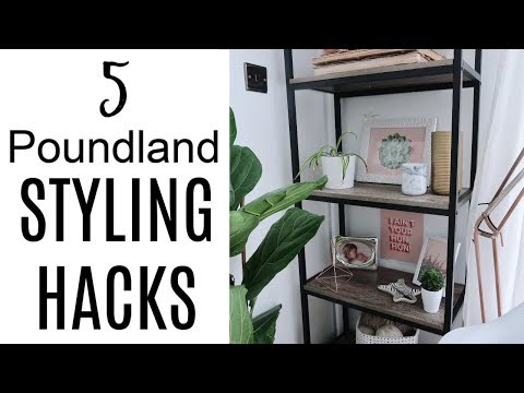 5 POUNDLAND STYLING HACKS | HOME DECOR DIY ON A BUDGET