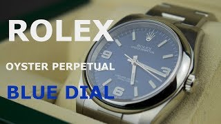 Rolex Oyster Perpetual 116000 blue dial 36mm