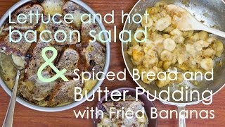 Spiced Bread And Butter Pudding & Lettuce And Hot Bacon Salad | Bon Appétempt | Pbs Digital Studios