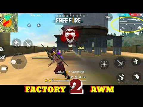 GARENA FREE FIRE FACTORY DOUBLE 2 AWM - FF FIST FIGHT ON FACTORY ROOF - FACTORY FREE FIRE - KING TOT