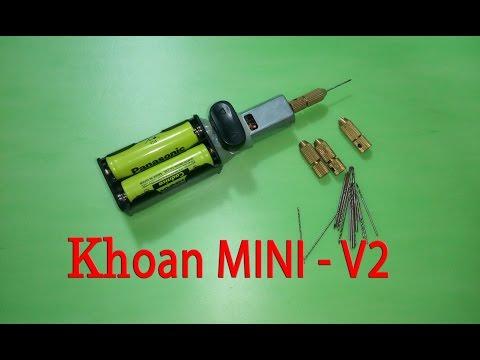 Tự làm máy khoan cầm tay mini - v2