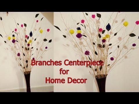 DIY: How to design branch centerpieces  Table centerpiece