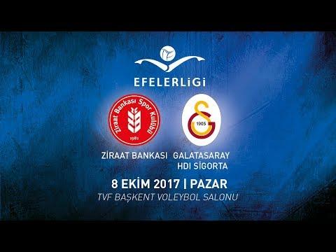 2017-2018 / Efeler Ligi 4. Hafta / Ziraat Bankası 3 - 0 Galatasaray