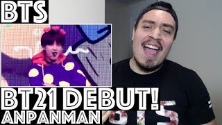 bts bt21 debut anpanman reaction