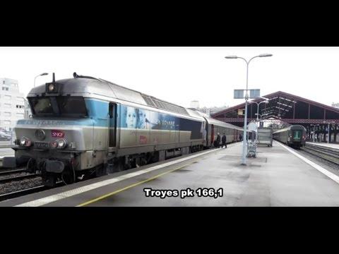 En cabine du CC 72121 de Troyes à Paris Est le 15 janvier 2017
