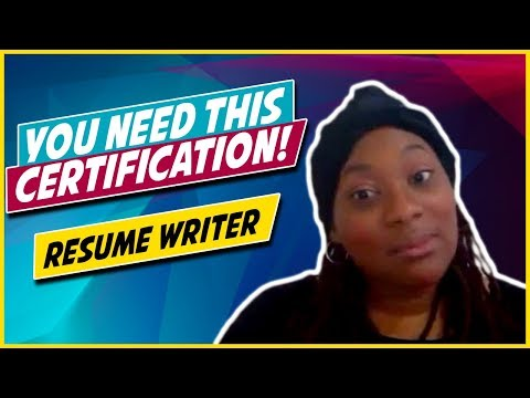 How To Become A Certified Resume Writer