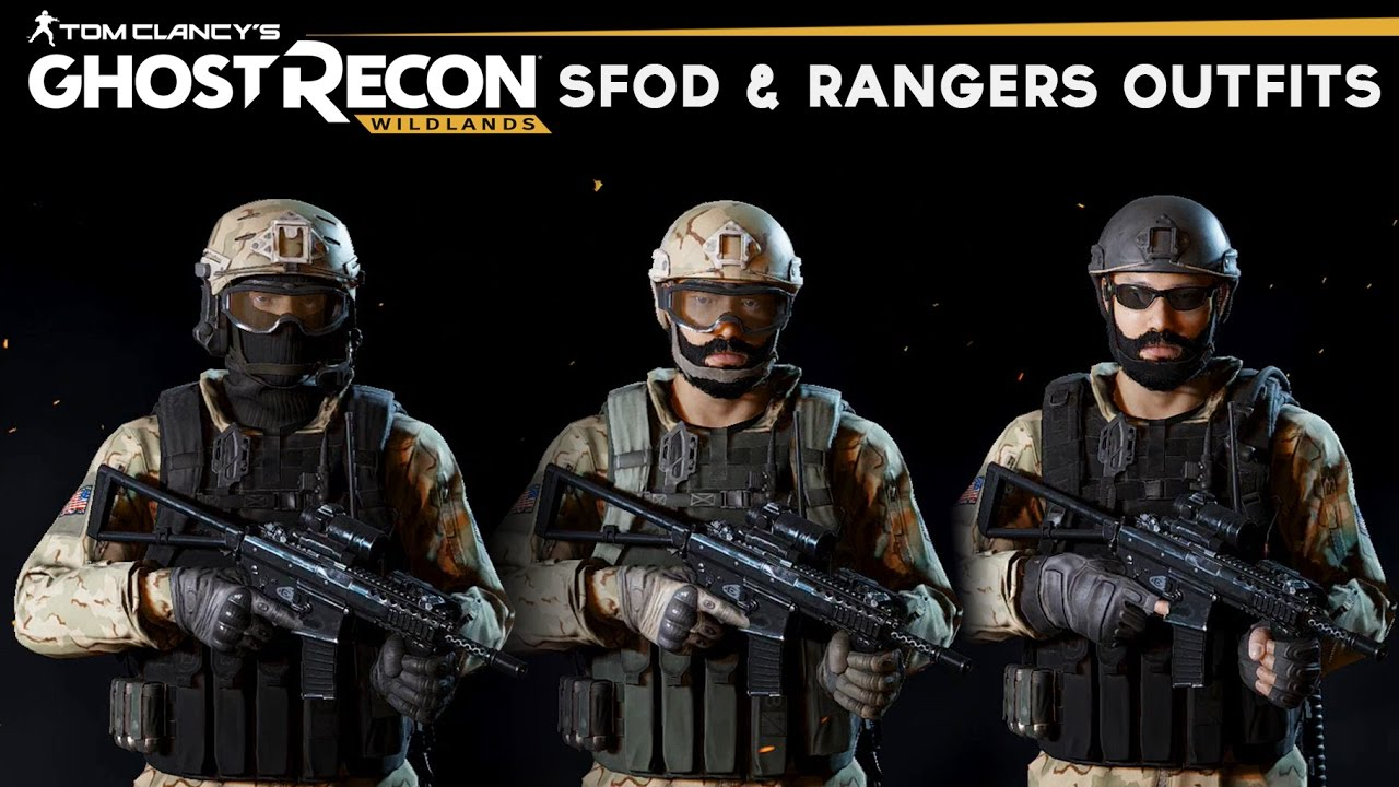Ghost Recon Wildlands - How to make Delta Force u0026 Rangers Outfits (SFOD u0026 U.S. Rangers Uniform)  sc 1 st  YouTube & Ghost Recon Wildlands - How to make Delta Force u0026 Rangers Outfits ...