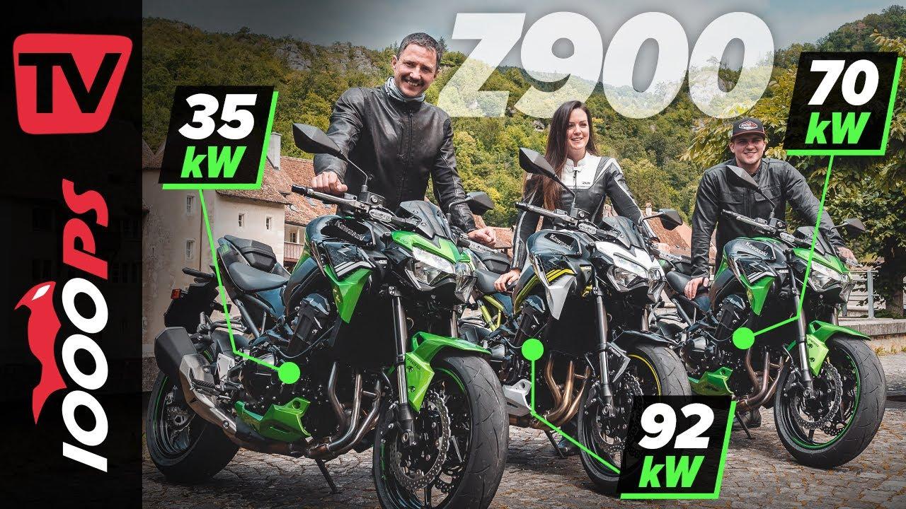 Kawasaki Z900 - 48PS - 95PS und 125PS - Das richtige Motorrad für Deinen Fahrausweis