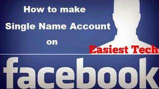 HOW TO CREATE SINGLE NAME ON FACEBOOK-ANDROID TIPS -BANGLA TUTORIA-TECH MH MASUM
