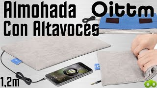 Mini Almohada con altavoces Oittm Cable 1.2m Jack 3.5mm Unboxing y Review