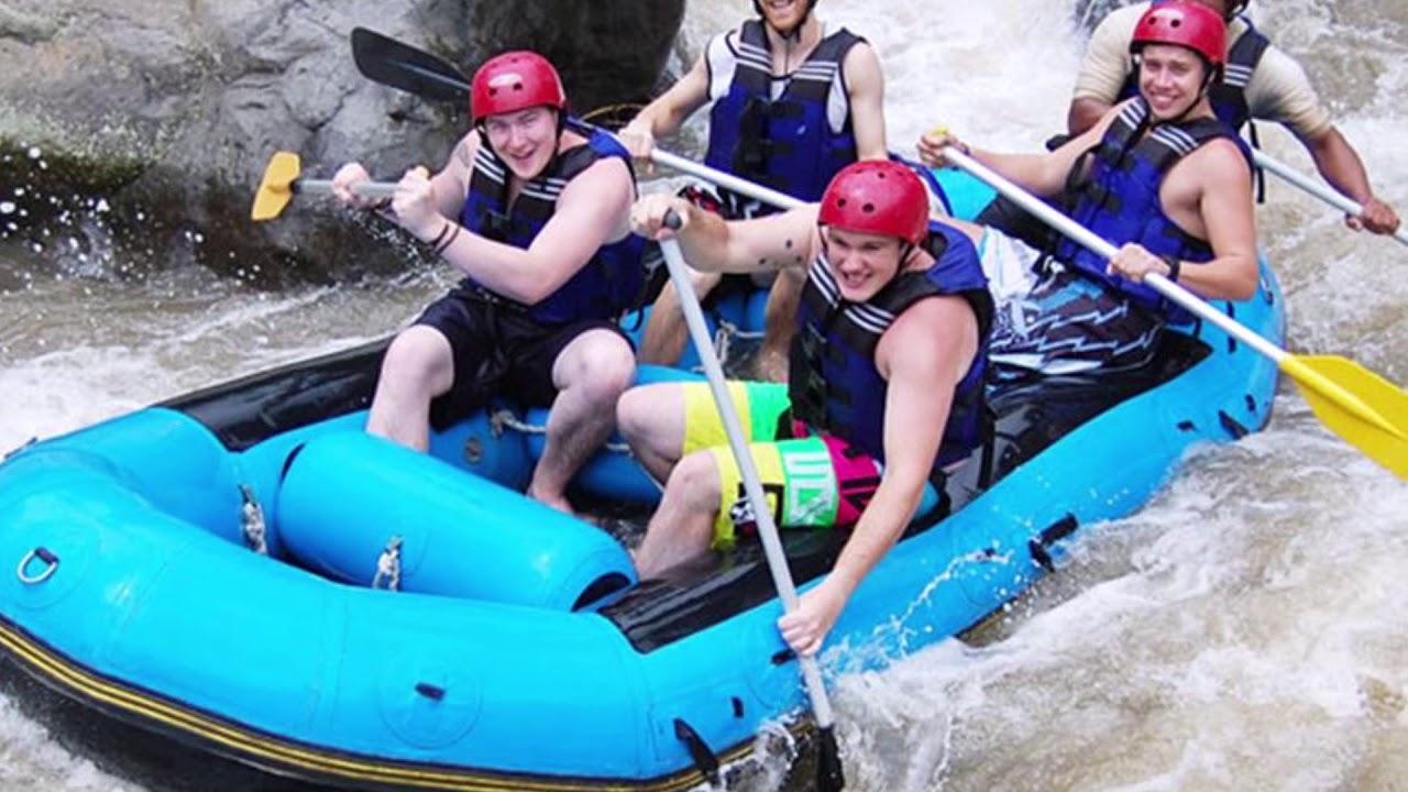 White Water Rafting Ayung River Ubud Youtube