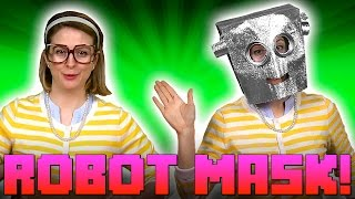 Robots! How to Make a Robot Mask - w/ Crafty Carol at Cool School