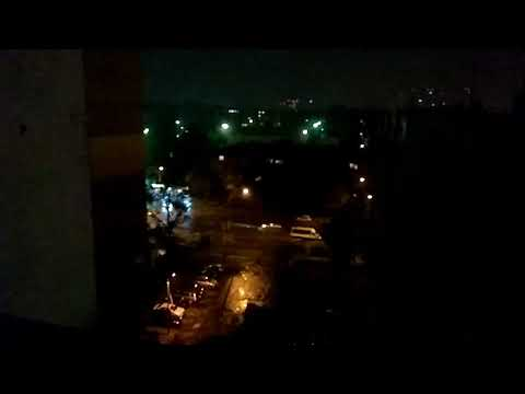 Киев, ночная гроза, ливень, град 16 08 2018
