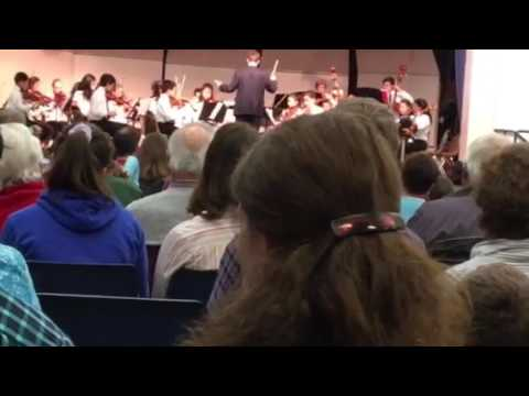 East Lyme Middle School Chamber Orchestra plays St Paul's Suite: finale by Holst