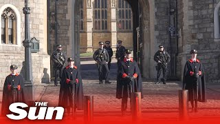 Security presence mounts at Windsor Castle ahead of Philip's funeral