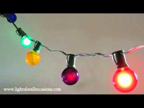 Twinkling Globe String Lights : Twinkling Globe String Lights, Multi Color, 1.5 inch Bulbs-Demo - YouTube