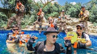 LTT Game Nerf War : Warriors SEAL X Nerf Guns Fight Braum Crazy Destroy Enemy Villa Base