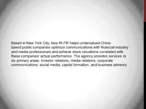 Asia Ir-Pr Launches Bilingual English-Mandarin Blog; Invites Submissions From Analysts, Investors