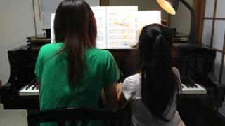 Rina音楽教室♪あゆなちゃん(小4)&ママによる親子連弾です。 もののけ姫/久石 譲 ♪Rina音楽教室ブログ♪ http://ameblo.jp/rina-musicschool/