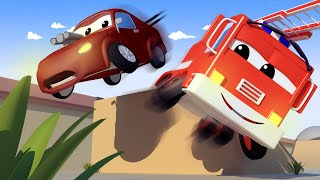 Baby Jerry's STUNT goes WRONG! with the Baby Cars in Car City ! - Cartoon for kids