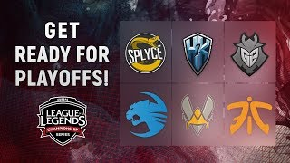 Get ready for Playoffs EU LCS Spring Split 2018