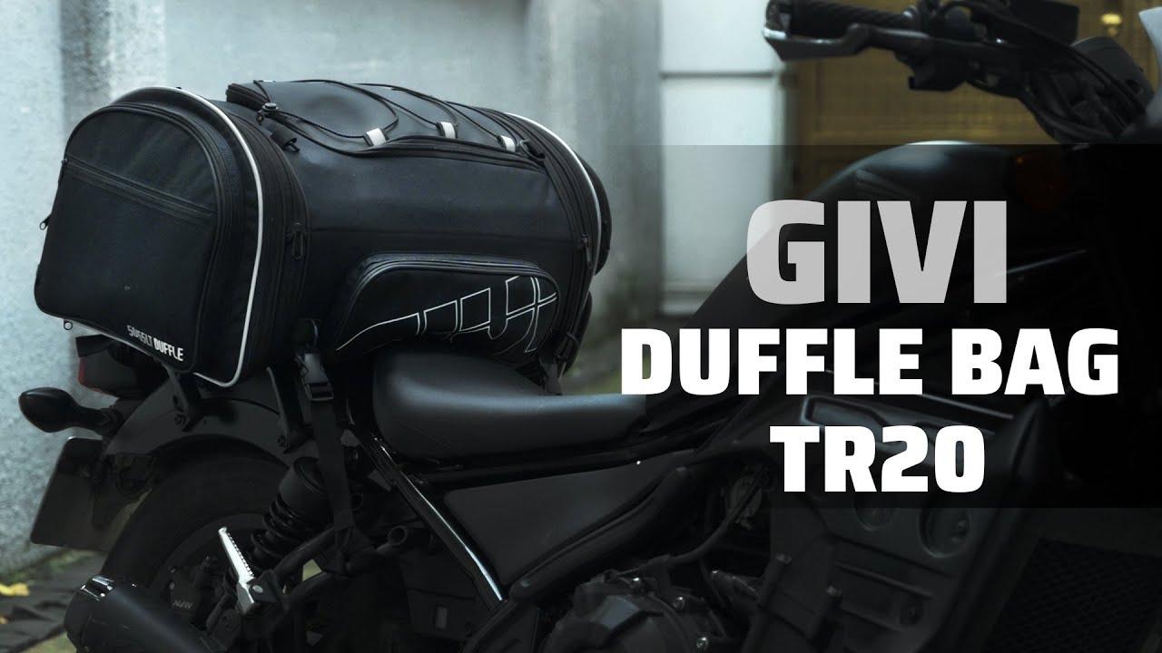 TRÊN TAY GIVI Duffle Bag TR20 | Túi du lịch gắn yên sau xe máy được, có ngăn để giày riêng.
