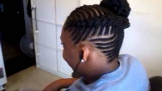 fishbones cornrow up do by kenny coo