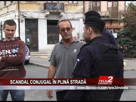 SCANDAL CONJUGAL ÎN PLINĂ STRADĂ