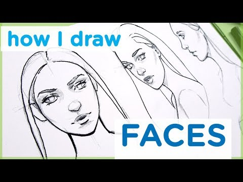 how-to-draw-a-female-face---art-tutorial【my-sketching-technique】