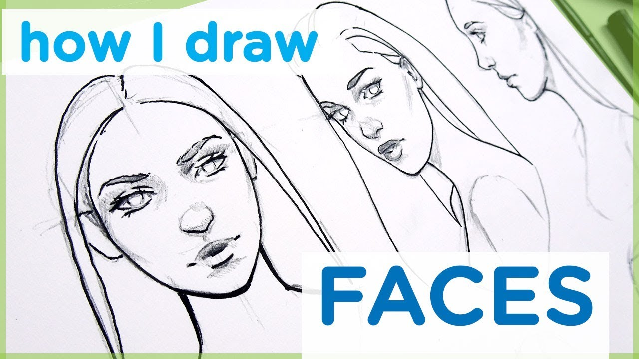 How to draw a female face art tutorial【my sketching technique】