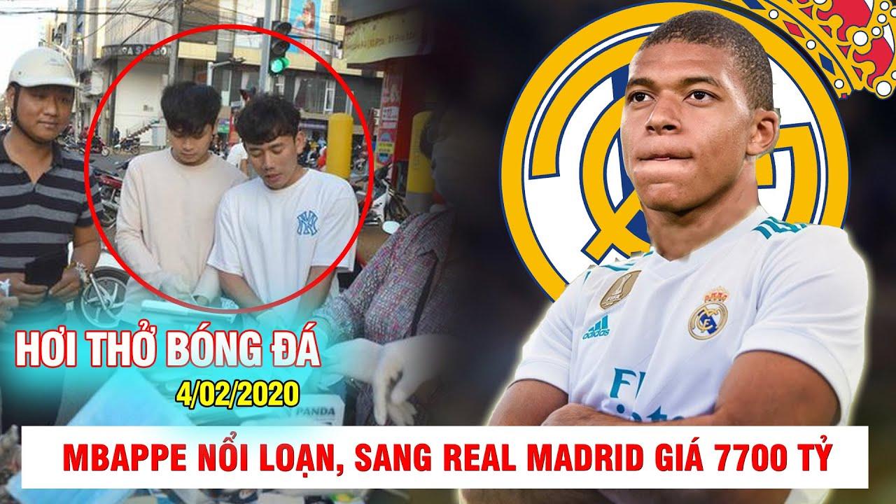 HƠI THỞ BÓNG ĐÁ 4/2 |Mbappe nổi loạn, sang Real giá 7700 tỷ – Cầu thủ HAGL được khen vì làm từ thiện