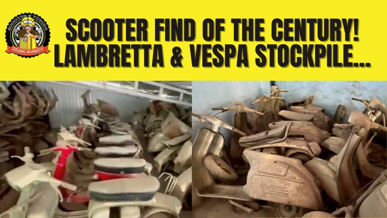 Scooter find of the Century! – Lambretta & Vespa scooter stockpile, plus parts & machinery...