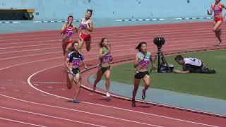 2018.9.8 第87回 日本インカレ陸上 女子4×400mR 予選4組 奥村ユリ 検索動画 19