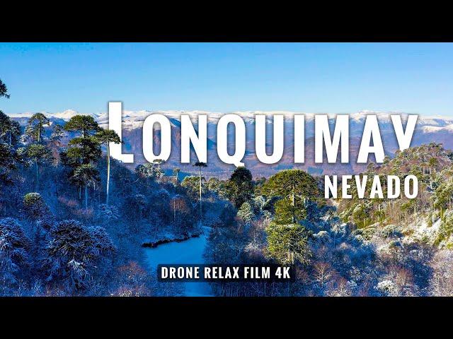 Lonquimay nevado en 4K: Viaje con Drone y música relajante - Araucanía, Chile