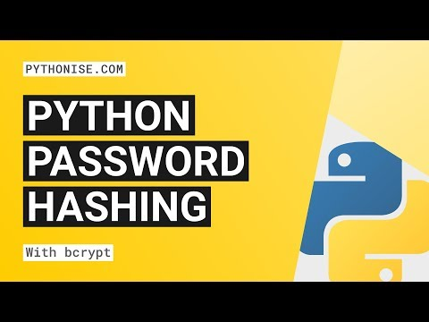 Hashing Passwords With Python And Bcrypt