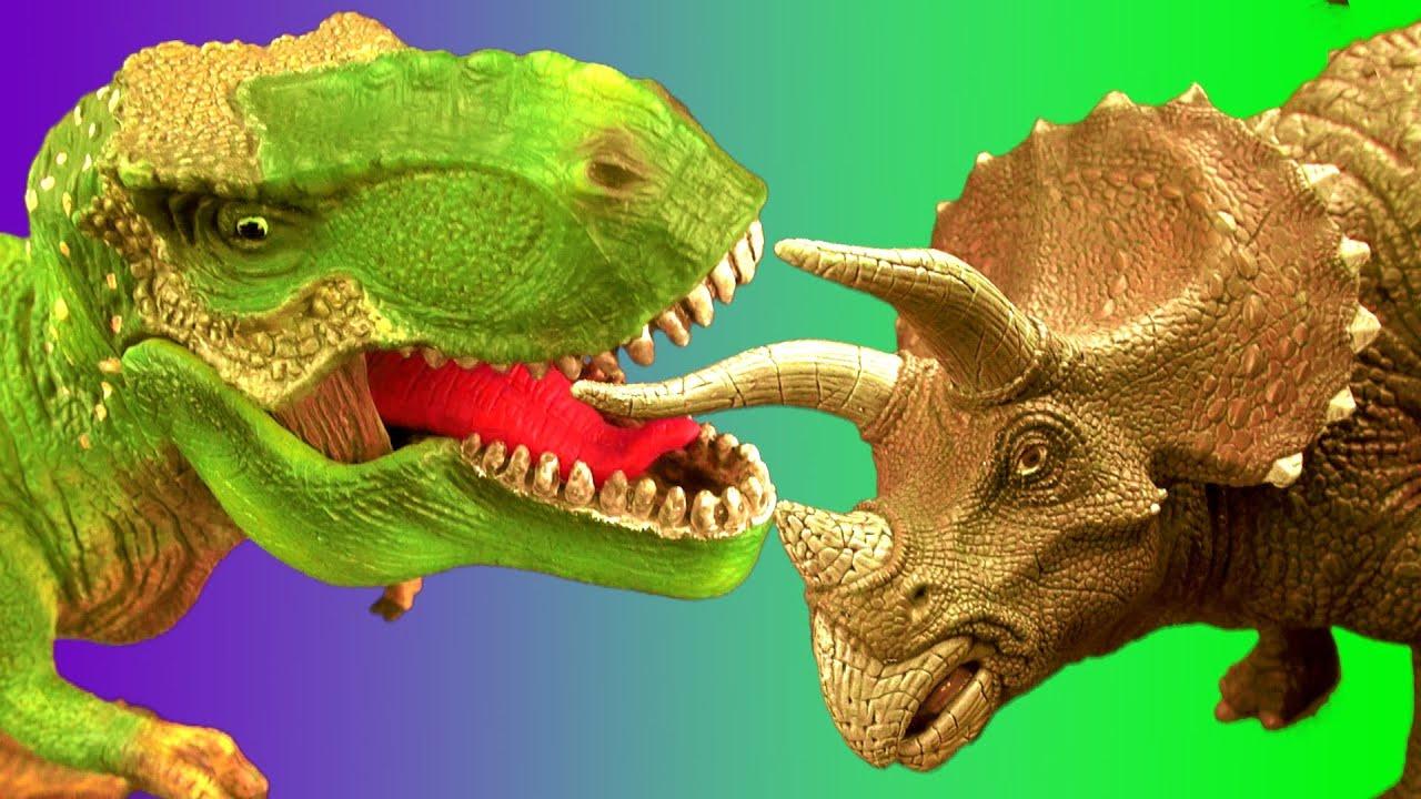 Dinosaur Fight TYRANNOSAURUS vs TRICERATOPS Battle T rex ... T Rex Vs Triceratops Fighting
