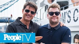 Watch Tom Cruise Force A 'Terrified' James Corden To Jump Out Of An Airplane | PeopleTV