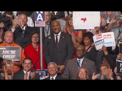 Indiana Delegation casts votes at the 2016 Democratic National Convention