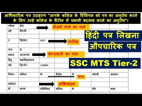 ssc mts 2017 descriptive hindi formal letter letter to editor