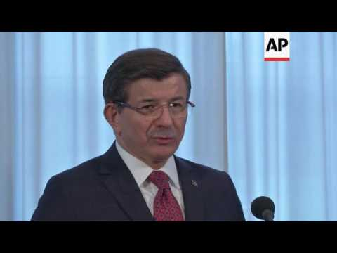 Turkish PM slams Syrian, Russian military