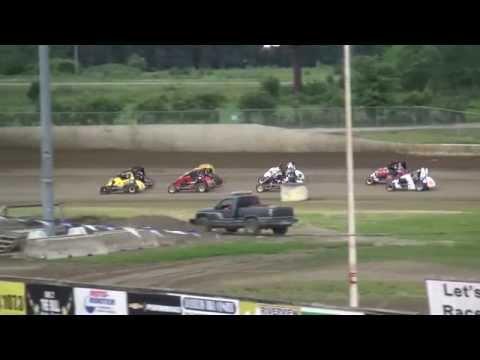 IMRA Midgets heats 34 Raceway 6/20/15