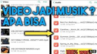 CARA MERUBAH VIDEO MENJADI MUSIC MP3