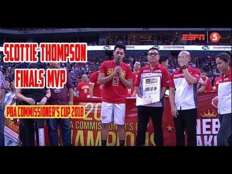 Download Scottie Thompson nakuha ang Finals MVP   PBA Commissioner's Cup 2018